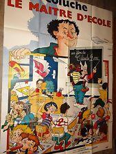coluche LE MAITRE D' ECOLE   affiche cinema