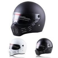 DOT Motorcycle Helmet Full Face w/Sun Visor Motocross Racing Cruiser Bike Helmet