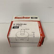 genuine fischer washers u 10x30 a4 100pcs 505544