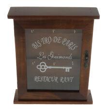 Vintage Style Wall Mounted Wooden Key Holder Storage Box Key Cabinet