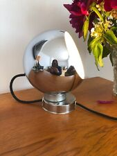 Vintage Original Retro Chrome Magnetic Movable Eyeball Lamp Light 1970's Stylish