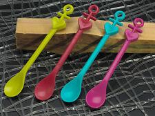 koziol 4er Set Löffel Happy Spoons Aloha (Anker) - Kunststoff