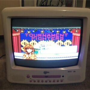 Kenmark pink 34cm CRT with factory SCART RGB input!