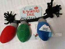"""""""A Winters Tail"""" BARKBOX Rockin' Rattle Dog Rope Squeaky Rattling Xmas Lights"""