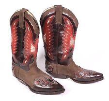 14S Sendra Damen Westernstiefel Cowboy Boots Leder braun rot Gr. 38 Ledersohle