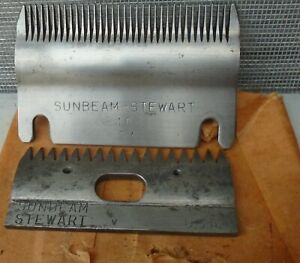 2 Sunbeam Stewart Steel Hair Clipper Blades 84AU  83AU
