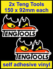 2x Teng Tools Stickers motorsport Sponsor Tool Box workshop car van truck decal