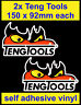 2 Teng Tools Sponsor Stickers motorsport Tool Box workshop decals car van truck