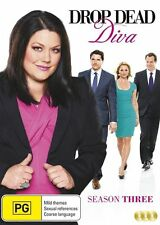 Drop Dead Diva : Season 3 (DVD, 2015, 3-Disc Set) Brand New Sealed R4