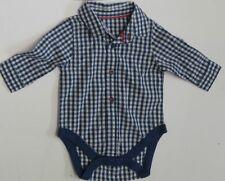 Baby boys shirt bodyvest  romper M & S  3 6 9 12 18  24 months RRP £12 *NEW*