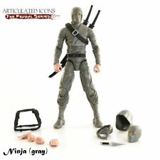 Articulated Icons Basic Ninja Grey The Feudal Series Fwoosh Figure NEW