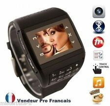 """Montre téléphone Ecran tactile Dual SIM Quad-Bande Bluetooth FM MP3 MP4 1.33"""""""