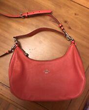Coach Orange Pebbled Leather Shoulder Bag / Purse - EUC