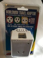World-Wide Travel Adaptor with x2 USB Fast Charging Outlets PTAUSB suits Europe