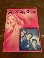 1947 Peg O' My Heart by Jerry Murad's Harmonicats Sheet Music