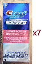CREST 3D White No-Slip Whitestrips Gentle Routine 7 Pouches Teeth Whitening 30 m