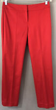Ann Taylor Size 4 Signature Cotton Red Dress Pants NEW NWT