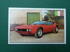 N°122 DE TOMASO MANGOUSTE ITALIE ITALIA PANINI 1972 HISTOIRE DE L'AUTOMOBILE