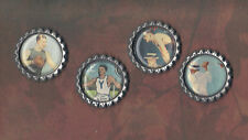 Graphic45 GOOD OL' SPORT #405 (4) Antq Silver Flat Bottle Cap Accents MEN SPORTS