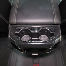 For Dodge RAM 1500 Pickup 2019 2020 Carbon Rear Water Cup Holder Frame Trim 2pcs