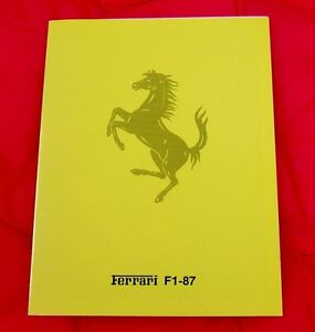 Ferrari Brochure Press Release F1-87, Berger joins Alboreto - Italian text only