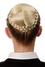 Dutt Haarteil aufwendig geflochten Haarknoten Tracht Blond Lichtblond N796-88
