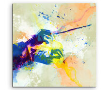 Dirigent 60x60cm Aquarell Art Leinwandbild