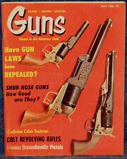 Vintage Magazine *GUNS*, May 1968 !!! MAUSER Broomhandle PISTOLS !!!