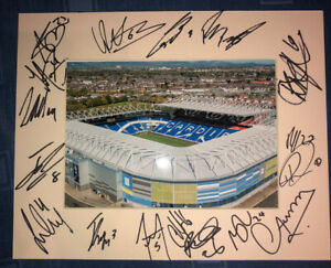 Cardiff City 21/22 HAND SIGNED 10x8 MOUNT DISPLAY Signed By 17 Players C