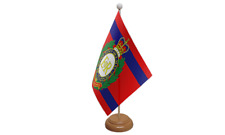 Royal Engineers Corps Military Table Flag with Wooden Stand