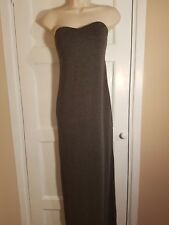 MISSGUIDED LADIES S-M GREY BANDEAU JERSEY MAXI DRESS E3