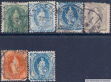 Gestempelte Schweizer Bundespost-Briefmarken (bis 1944) als Posten & Lots