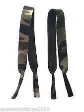Nuevo 2 X Camuflaje Neopreno gafas / gafas Banda Correas Cable de Reino Unido Stock