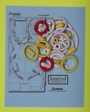 1990 Gottlieb / Premier Title Fight pinball rubber ring kit