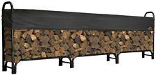 12 ft. Firewood Log Rack Storage Bin Logs Holder Steel Shelter w/ Cover