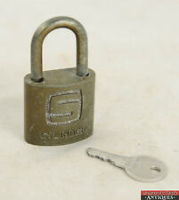 Vintage Slaymaker Cylinder Padlock Made In Lancaster, PA With Key