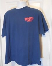 M&Ms World Blue T Shirt Vegas 2005 Size not Marked but is XL 48