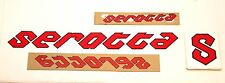 Genuine NOS Serotta Ultra Thin Bike Frame Decals Red w/ Black Outline Stickers