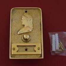 Top-Qualität Schelle Jahrhundertwende Antik Klingel Messing Türklingel