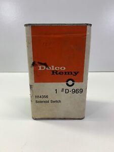 NOS GM OEM Delco Remy Starter Motor Solenoid Switch 1114356  D969 Corvette Parts