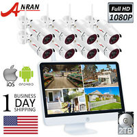 ANRAN Wireless Home Security WIFI Camera System 8CH 1080P HD NVR Outdoor Camera
