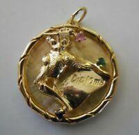 RARE HEAVY Vintage 14k Gold GRADUATION Bracelet Charm OWL JEWELS 8.3 G #19021