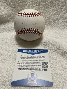 Nolan Ryan Signed Autographed OMLB Baseball 3 Inscriptions BECKETT COA