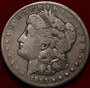 1893-CC Carson City Mint Silver Morgan Dollar