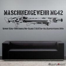 MG42 mit Daten Maschinengewehr 120x38cm - Wandtattoo in schwarz #7645