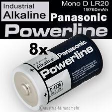 8x Mono D LR20 MN1300 Batterie PANASONIC POWERLINE INDUSTRIAL