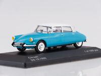 Scale model 1/43 Citroen DS 19, light blue/white, 1966