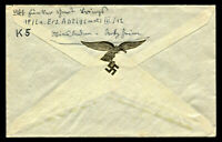 WW2 WWII Germany 3rd Reich Cover Hitler Luftwaffe Feldpost RARE GOLD VIGNETTE
