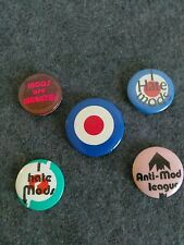 Collectible 1980s Mini Badges!  Mods-Rockers