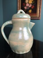 Vintage Studio Art Pottery Signed Hand Thrown Ceramic Stoneware Pitcher Jug